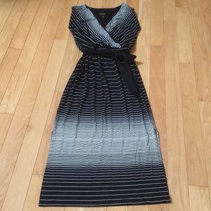 WHBM Maxi Striped Dress